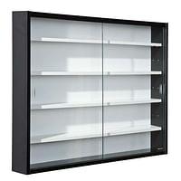 Vitrine Compilati - zwart/wit - 60x80x9,5 cm - Leen Bakker-Huismerk - Leen Bakker