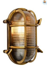 Lucide wandverlichting Dudley goud E27-Lucide