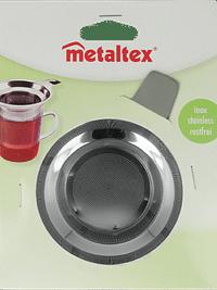 Metaltex Theezeef 12 x 9 x 8 cm zilver-Metaltex