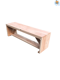 Wood4you tuinbank Nick douglashout 190x38x43cm-Name-IT
