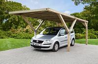 Weka carport-enkel 612 zonder dak 360x606cm-Weka