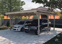 Weka dubbele carport 616 500x500cm-Weka
