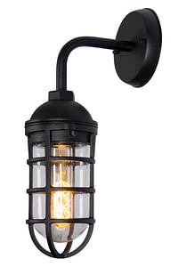 Lucide wandverlichting Limal zwart E27-Lucide