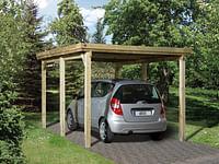 Weka carport 617 Gr.1 onbehandeld zonder dak 294x398cm-Weka