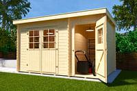 Weka tuinhuis 254 GR1 200x390cm-Weka