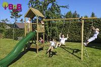 BnB Wood schommel Nieuwpoort Eco met groene glijbaan-BNB Wood