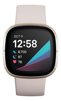 Fitbit Smartwatch Sense Lunar White-Fitbit