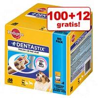 100 + 12 gratis! 112 Stuks Pedigree Dentastix Dagelijkse Gebitsverzorging - 56 x Dentastix + 56 x Dentastix Fresh - voor grote honden-Pedigree