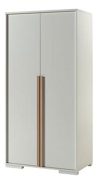 2-deurs kleerkast London wit/beuk natuur-Vipack