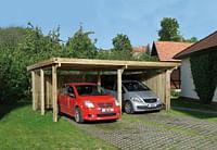 Weka carport 618 Gr.1 onbehandeld zonder dak 398x576cm-Weka