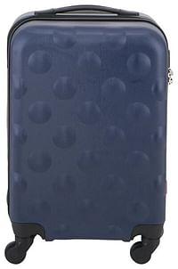 HEMA Koffer - 55x35x20 - Structuur - Donkerblauw (donkerblauw)-Huismerk - Hema