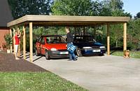 Weka dubbele carport 609 GR.2 eiken 604x812cm-Weka