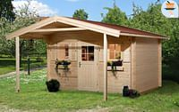 Weka tuinhuis met overkapping 138 GR1 380x500cm-Weka