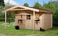 Weka tuinhuis met overkapping 138 GR2 380x580cm-Weka