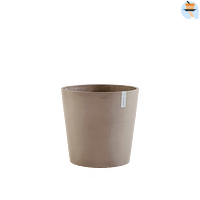 ECOPOTS Amsterdam rond taupe 50cm-Name-IT