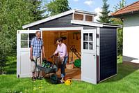 Weka tuinhuis 226 GR3 antraciet 209x295cm-Weka