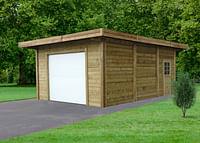Solid garage S7756 + roldeur 21m2 390x540x250cm-Solid
