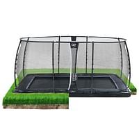 Exit in-ground trampoline Dynamic met veiligheidsnet 275x458cm zwart-Exit