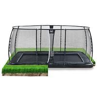 Exit in-ground trampoline Dynamic met veiligheidsnet 305x519cm zwart-Exit
