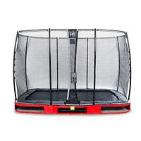 Exit in-ground trampoline Elegant met veiligheidsnet Economy 214x366cm rood-Exit