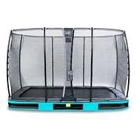 Exit in-ground trampoline Elegant met veiligheidsnet Economy 244x427cm blauw-Exit