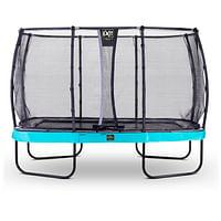 Exit trampoline Elegant Premium + veiligheidsnet Deluxe 244x427cm blauw-Exit