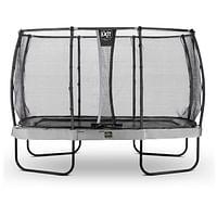Exit trampoline Elegant Premium + veiligheidsnet Deluxe 244x427cm grijs-Exit