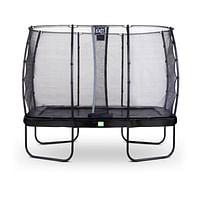 Exit trampoline Elegant + veiligheidsnet Economy 214x366cm zwart-Exit