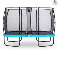 Exit trampoline Elegant + veiligheidsnet Economy 244x427cm blauw-Exit