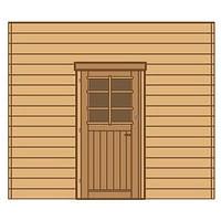 Solid voorwand met enkele deur 'S7736' hout 270 x 255 cm-Solid