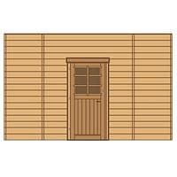 Solid voorwand met enkele deur 'S7740' hout 390 x 245 cm-Solid