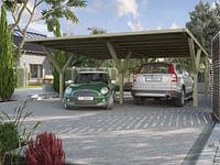 Weka carport-duo 612 zonder dak 594x606cm-Weka