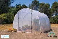 Tunnelserre Richel 1 deur polyethyleen grijs transparant staal 300x300x200cm 9m²-Garden Feelings