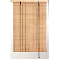 Rolgordijn Bamboe - naturel - 90x130 cm - Leen Bakker-Huismerk - Leen Bakker