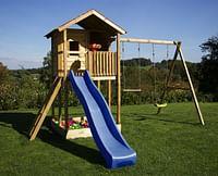 BnB Wood schommel Lucas met zandbak en blauwe glijbaan-BNB Wood