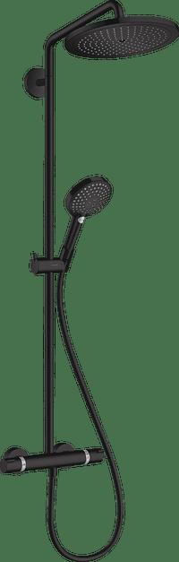Hansgrohe Croma Select S 280 regendoucheset thermostatisch mat zwart-Hansgrohe