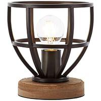 Brilliant tafellamp Matrix - zwart - 18 cm - Leen Bakker-Brilliant