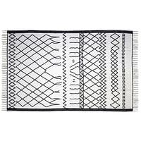 HSM Collection tapijt Borris - zwart/wit - 230x160 cm - Leen Bakker-Mar Collection