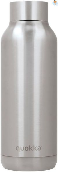 Quokka Isoleerfles Solid steel 510 ml zilver-Quokka