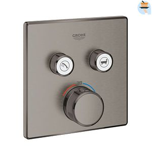 Grohe Grohtherm Smartcontrol Square inbouw douchekraan thermostaat 2 functies Brushed Hard Graphite