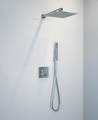 Hansgrohe Showerselect S thermostatische inbouw regendoucheset met vierkante regendouchekop 30 cm glanzend chroom-Hansgrohe