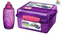 Sistema lunchbox Cube Max + bonus drinkfles-Sistema