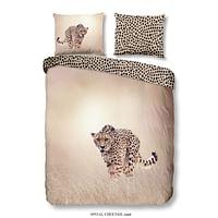 Good Morning dekbedovertrek Cheetah - zandkleur - 140x200/220 cm - Leen Bakker-Good Good