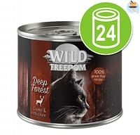 24x200g Adult Deep Forest Wild & Kip Wild Freedom Kattenvoer-Wild Burrow