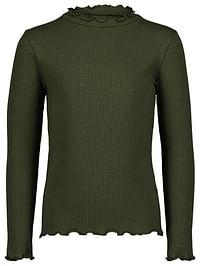 HEMA Kinder T-shirt Rib Legergroen (legergroen)-Huismerk - Hema