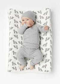 HEMA Newborn-prematuur Broek Bamboe Stretch Grijsmelange (grijsmelange)-Huismerk - Hema
