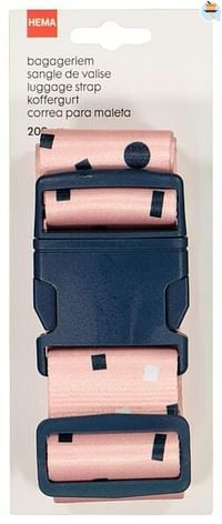 HEMA Bagageriem - 200 Cm - Roze (roze)-Huismerk - Hema