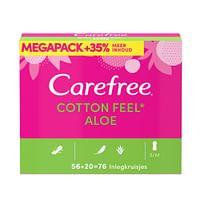 Carefree Cotton Feel Aloe 76 stuks-Carefree