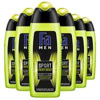6x Fa Men Douchegel en Shampoo Sport Energy Boost 250 ml-Fa