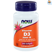 NOW Vitamine D3 2000 IE Softgels 240st-Snowmelt